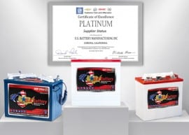 US Battery – General Motors Platinum Award