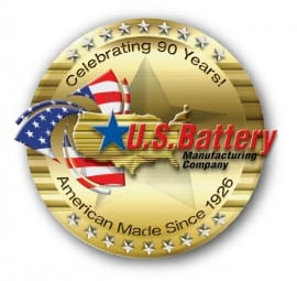 US Battery 90th Anniversary Logo