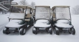 Golf Cars in Snow copy