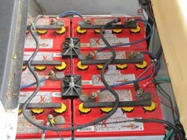 Batteries in Golf car